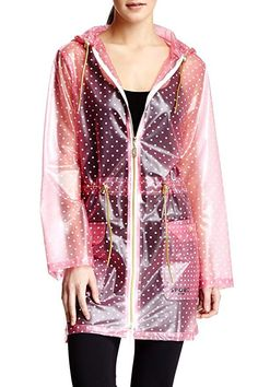 Isaac Mizrahi Sport Transparent Anorak Rain Jacket ** Learn more by visiting the image link. (This is an affiliate link) Green Raincoat, Raincoat Jacket, Hooded Raincoat, Anorak Jacket, Rain Jacket, Vinyl Raincoat, Rain Gear, Raincoats For Women, Fashion Outfits