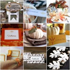 25 Prettiest Printable Thanksgiving Place Cards