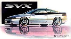 subaru svx sketches   稀少なSVXを勢力的に集めるほか、SVXのリフレッシュ