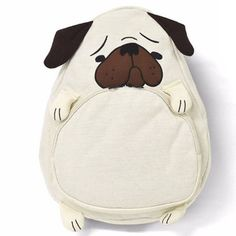 Plush Pug Backpack