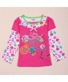 Autumn Spring Shirt Bow Decoration Fake Two Piece Baby Blouse Print Floral