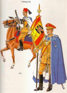 GRUPO DE REGILARES DE CABALLERIA DE TETUÁN. 1954. Military History, Spanish, Empire, Army, Princess Zelda, Pictures, Painting, Middle East, Fictional Characters