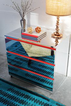 Mirror, Mirror, on the MALM: PANYL a Reflective Dresser in Myriad Ways | PANYL self-adhesive furniture finishes