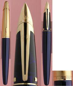 Edson blue fountain pen -- Waterman,