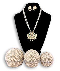Dineshalini Meenakari Pendent Set82 with Jewellery Box | eBay