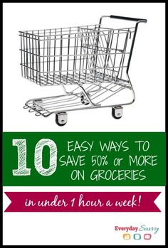 10 easy ways to save money groceries. Tips, tricks and apps that can help you save 50% or more on your groceries in under an hour a week. Saving money on groceries doesn't have to be hard.