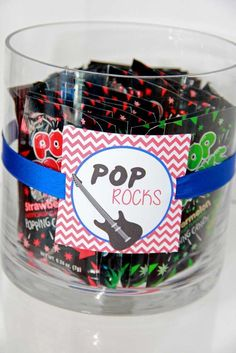 One Direction Birthday Party Ideas Pop Rocks at a 1 Direction birthday party! See more party planning at CatchMyParty.com!