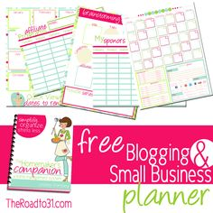 FREE Blogging and Small Business Organizational Printable Planner with Holiday Gift Guide including sales, discounts, giveaways, and freebies!