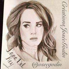 Créations Josée Godin - Lana Del Rey - Illustration - Drawing - Art- Artiste