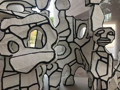 """Jean Dubuffet, """"Site à l'homme assis,"""" National Gallery of Art in Washington, DC"""