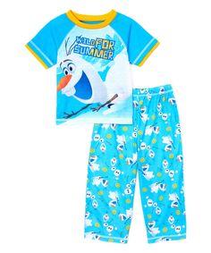 Look at this #zulilyfind! Blue Frozen Pajama Set - Toddler by Frozen #zulilyfinds