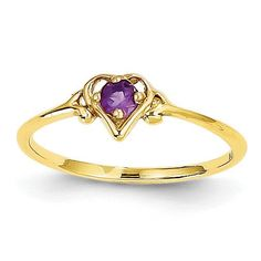 *Extra 10% off on our store plus No Shipping Charges! Period. 14K Amethyst Birt... Check it out here! http://shirindiamond.net/products/14k-amethyst-birthstone-heart-ring-yc425?utm_campaign=social_autopilot&utm_source=pin&utm_medium=pin