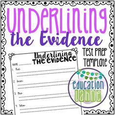 Education Lahne: Underlining Evidence In the Text Citing Evidence, Text Evidence, 5th Grade Reading, Guided Reading, Education Quotes For Teachers, Readers Workshop, Living At Home, Test Prep, Quote Posters
