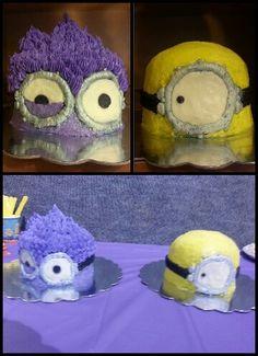 Evil purple minion and minion cakes (pics for inspiration)