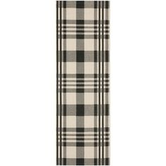 Shop for Safavieh Courtyard Plaid Black/ Bone Indoor/ Outdoor Rug (2'3 x 10'). Get free shipping at Overstock.com - Your Online Home Decor Outlet Store! Get 5% in rewards with Club O! - 15416570