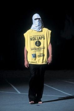 On of most celebrated Raf Simons collections was the 2002 inspired by urban guerrillas