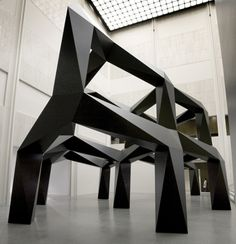 Smoke Edition: 1/3 Tony Smith (United States, 1912-1980) 1967, fabricated 2005 Sculpture Painted aluminum Installation: 290 x 564 x 396 in. (736.6 x 1432.56 x 1005.84 cm)