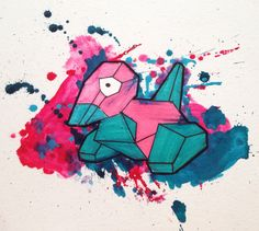 Pokemon Challenge 137 Porygon by Kirsty