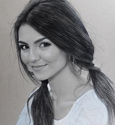 WEBSTA Justin Maas@ maas.art - From the sketchbook today, a new drawing of @VictoriaJustice on this Monday Morning. #VictoriaJustice is an amazingly talented actress and singer