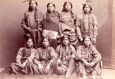 Pawnee group (part of Buffalo Bill's Wild West). 1886. Photo by Anderson.