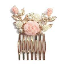 Pink Hair Comb-Skull Comb-Wedding Comb-Bridal Comb-Bridesmaid Comb-Prom Hair Accessory-Pearl Hair C – Prom 2020 Gothic Hairstyles, Prom Hair Accessories, Wedding List, Dream Wedding, Bridal Comb, Pearl Hair, Online Gifts, Hair Comb, Pink Hair