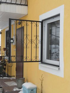 Sliding Window Design, Iron Window Grill, Window Grill Design Modern, Grill Door Design, Iron Windows, Iron Doors, Windows And Doors, Window Security Bars, Window Bars