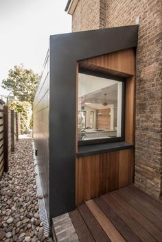 Muschamp Road: modern Windows & doors by Gruff Limited House Cladding, Exterior Cladding, House Siding, Garden Room Extensions, House Extensions, House Extension Design, House Design, Modern Windows And Doors, Side Extension