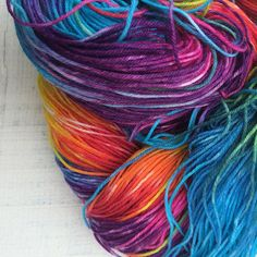 Today I'm taking photos of rainbow yarn planning and dreaming.