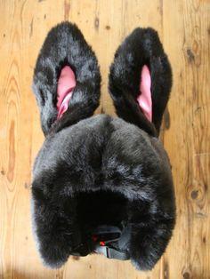 Black SnowBunny Ski Helmet Cover
