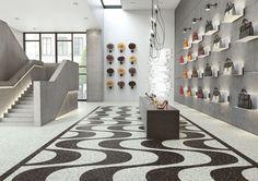 Expona Commercial luxury vinyl tile flooring - Arctic Mosaic and Granite Mosaic