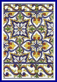 15-Cascais and border. www.sintraantiquetiles.com, #portugal, #portuguese, #tiles, #portuguese tile