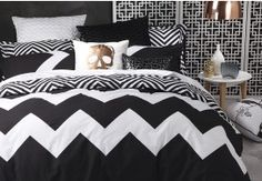 Bring a bright pop of fun and funky colour to your bedroom with the Marley quilt cover set.This striking and contemporary design, from bed linen stalwarts Logan & Mason, features a large scale chevron print on the front, with a co-ordinated rota Sophisticated Bedroom, Double Quilt, Quilt Cover Sets, Queen Quilt, Bed Covers, Dream Bedroom, Rustic Style, Contemporary Design, New Homes