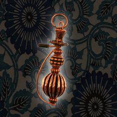 Hookah Pendant Copper Finish Black Tip Copper Hose by HookahDreams, $18.00