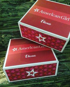 American Girl. Cajas para centro de mesa. Personalizadas.