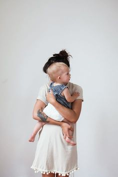 Love this mom and babe shot. Adorable tassle dress, too!