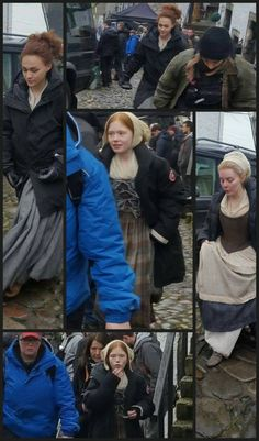 BTS - looks like filming the scene, of the Leoghaire and Brianna showdown - Cannot Wait to see this - Outlander_Starz Season 4 Drums of Autumn - posted February 19th, 2018