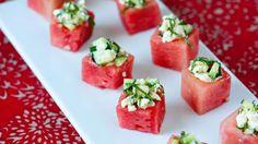 watermelon feta cups