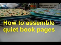 How to assemble quiet book pages - YouTube
