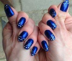 Navy blue star sky