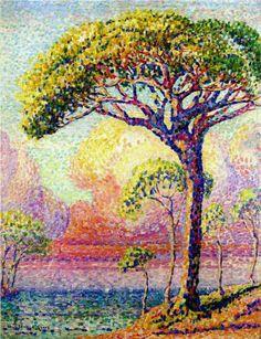 A Pine Tree - Henri-Edmond Cross