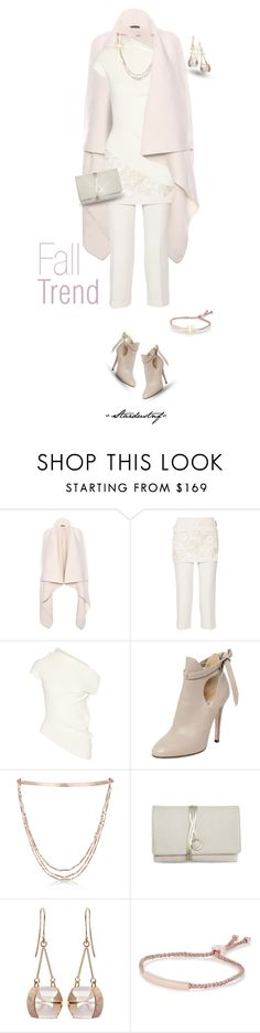 """""""Perfect Pairing: Fall Whites & Rose Gold"""" by stardustnf ❤ liked on Polyvore featuring Alexander McQueen, 3.1 Phillip Lim, Donna Karan, Jimmy Choo, Eddie Borgo, Torula Bags, Kattri, Monica Vinader, rosegold and polyvoreeditorial"""