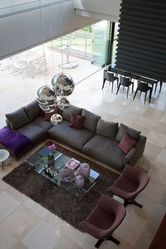 15 Living Room Layouts From Above // In an open floor plan, focusing the living…
