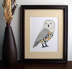 {Chevron Owl Print}