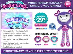 Brightlings are plush toys which can speak, sing, and repeat what you say. Read…