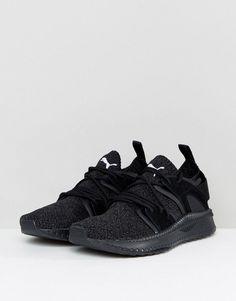 d8e81eb513fe Puma Tsugi Blaze EvoKnit Sneakers In Black 36440801 - Black