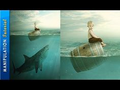 Photoshop Photo Manipulation Tutorial : Boy & Shark - Under Water Scene - YouTube
