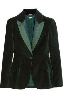 Alexander McQueen | Satin-trimmed velvet blazer | NET-A-PORTER.COM