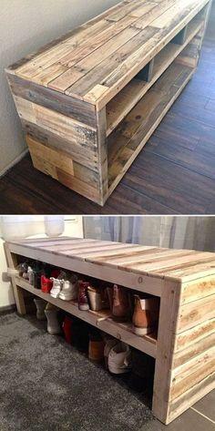 Palette Furniture, Pallet Patio Furniture, Diy Pallet Sofa, Wooden Pallet Projects, Crate Furniture, Wooden Pallets, Furniture Projects, Home Furniture, Buy Pallets