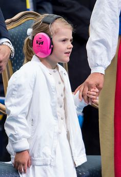 Princess Estelle of Sweden attends a concert at the 39th birthday celebrations for Crown Princess Victoria on July 14 2016 in Oland Sweden