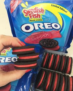 Weird but wonderful food on pinterest creme eggs for Swedish fish oreos where to buy